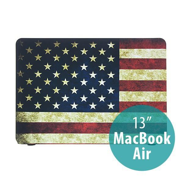 Ochranný plastový obal pro Apple MacBook Air 13.3 - retro vlajka USA