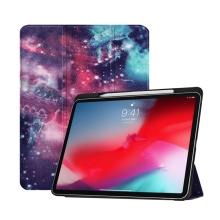 """Pouzdro pro Apple iPad Pro 11"""" - funkce chytrého uspání + stojánek - barevná galaxie"""