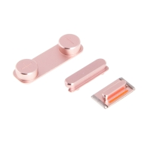 Sada postranních tlačítek / tlačítka pro Apple iPhone 5 / 5S / SE (Power + Volume + Mute) - růžová (Rose Gold) - kvalita A+