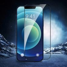 Tvrzené sklo (Twice-tempered Glass) DEVIA pro Apple iPhone 13 Pro Max - černý rámeček - 3D hrana - 0,3mm