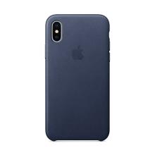 Originální kryt pro Apple iPhone X - kožený - půlnočně modrý
