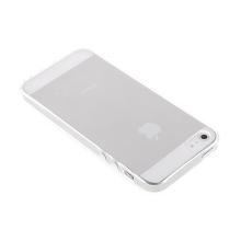 Gumový kryt pro Apple iPhone 5 / 5S / SE - lesklý - průhledný