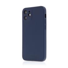 Kryt SWISSTEN Soft Joy pro Apple iPhone 12 mini - příjemný na dotek - silikonový - tmavě modrý