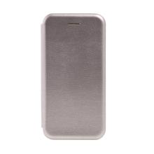 Pouzdro FORCELL Elegance pro Apple iPhone 7 / 8 / SE (2020) - umělá kůže - stříbrné