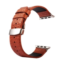 Řemínek Kakapi pro Apple Watch 44mm Series 4 / 5 / 42mm 1 2 3 + šroubovák - kožený - hnědý