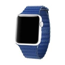 Elegantní řemínek BASEUS + magnetické upínání / uzavírání pro Apple Watch 42mm Series 1 / 2 / 3 - modrý