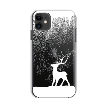Kryt FORCELL Winter pro Apple iPhone 12 / 12 Pro - gumový - průhledný / sob ve vánici