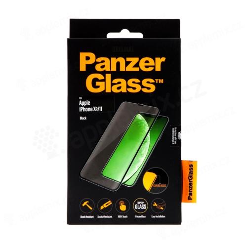 Tvrzené sklo (Tempered Glass) PANZERGLASS pro Apple iPhone Xr / 11 - 3D hrana - černé - 0,4mm
