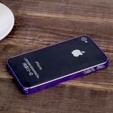 Ochranný ultra tenký hliníkový rámeček / bumper LOVE MEI (tl. 0,7 mm) pro Apple iPhone 4 / 4S - fialový