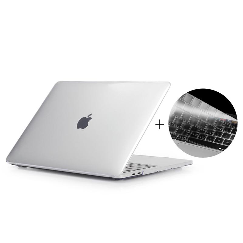 """Obal / kryt ENKAY pro Apple MacBook Pro Retina 15"""" (2016 - 2018) - model A1707, A1990 + kryt klávesnice - průhledný"""