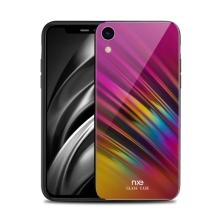 Kryt NXE pro Apple iPhone Xr - gumový / skleněný - barevný přechod
