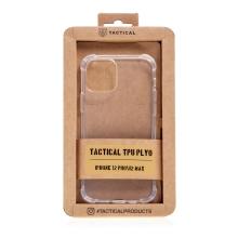Kryt TACTICAL Plyo pro Apple iPhone 12 / 12 Pro - zesílené rohy - gumový - průhledný
