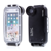 Pouzdro vodotěsné pro Apple iPhone 7 / 8 s odolností do 40m hloubky (IPX8) - průhledné / černé