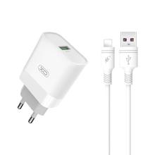 2v1 nabíjecí sada XO pro Apple zařízení - EU adaptér a kabel Lightning - 15W - bílá