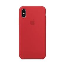 Originální kryt pro Apple iPhone X - silikonový - červený