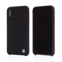 Kryt BMW pro Apple iPhone X - plastový / silikonový - matný - černý