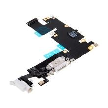 Napájecí a datový konektor s flex kabelem + audio konektor jack + GSM anténa pro Apple iPhone 6 Plus - bílý