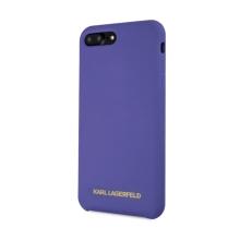Kryt KARL LAGERFELD pro Apple iPhone 7 Plus / 8 Plus - silikonový - fialový