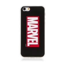 Kryt MARVEL pro Apple iPhone 5 / 5S / SE  - gumový - černý / červený