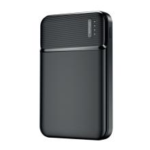 Externi baterie / power bank MAXLIFE - USB + USB-C - 5000 mAh - černá