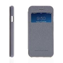 Pouzdro Mercury pro Apple iPhone 6 / 6S - výřez na displej, prostor pro platební karty / doklady - šedé