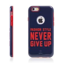 Kryt BASEUS pro Apple iPhone 6 / 6S plasto-gumový - NEVER GIVE UP - modrý