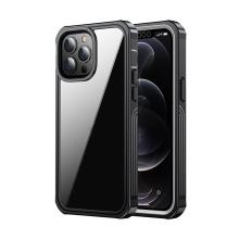 Kryt pro Apple iPhone 13 Pro - 360° ochrana - plastový / gumový - černý / průhledný