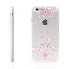 Kryt KINGXBAR Swarovski pro Apple iPhone 6 / 6S plastový - růžový
