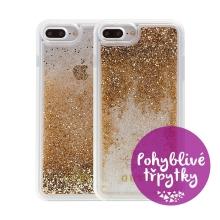 Kryt GUESS pro Apple iPhone 6 Plus / 6S Plus / 7 Plus / 8 Plus - plastový - glitter / zlaté třpytky