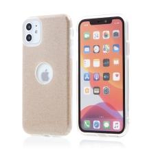 Kryt FORCELL Shining pro Apple iPhone 11 - výřez pro logo - plastový / gumový - zlatý