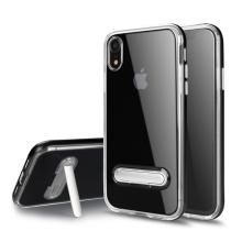 Kryt pro Apple iPhone Xr - stojánek - plastový / gumový - průhledný / černý