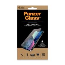 Tvrzené sklo (Tempered Glass) PANZERGLASS pro Apple iPhone 13 / 13 Pro - černý rámeček - antibakteriální - 0,4mm