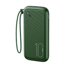 Externí baterie / power bank USAMS CD150 - 10000mAh - 2x USB - tmavě zelená
