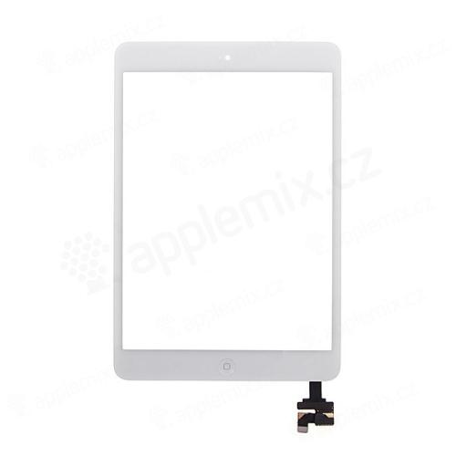 Dotykové sklo (touch screen digi) + IC konektor a flex s Home Buttonem pro Apple iPad mini / mini 2 (Retina) - černé