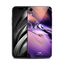 Kryt NXE pro Apple iPhone Xr - gumový / skleněný - barevný přechod - fialový