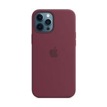 Originální kryt pro Apple iPhone 12 Pro Max - silikonový - švestkově fialový