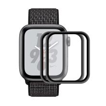 Tvrzené sklo (Tempered Glass) ENKAY pro Apple Watch 44mm Series 4 - 3D okraj - černé / čiré - 2 kusy