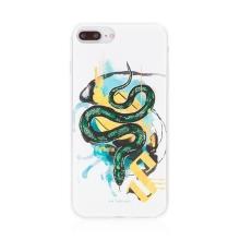 Kryt Harry Potter pro Apple iPhone 7 Plus / 8 Plus - gumový - had Zmijozelu