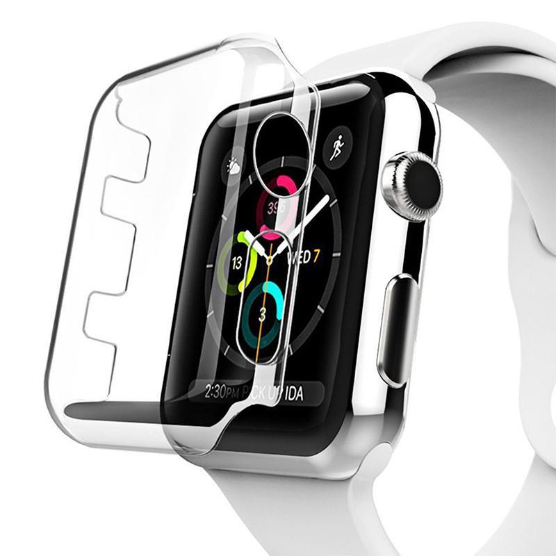 Kryt pro Apple Watch Series 3 38mm - plastový - průhledný