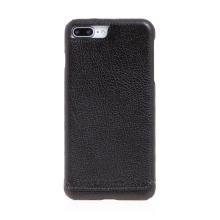 Kryt Pierre Cardin pro Apple iPhone 7 Plus / 8 Plus - plastový / kožený povrch - černý
