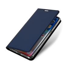 Pouzdro DUX DUCIS pro Apple iPhone Xs Max - stojánek + prostor pro platební kartu - tmavě modré
