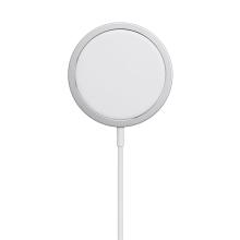 Bezdrátová nabíječka / nabíjecí podložka - Qi / Magsafe kompatibilní - 15W - bílá