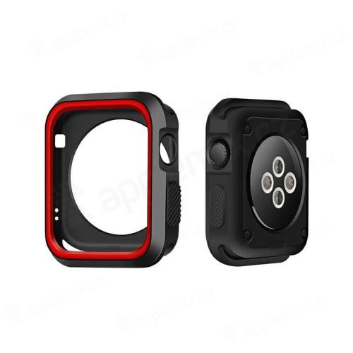Kryt / rámeček pro Apple Watch 42mm 1 / 2 / 3 series - sportovní - silikonový