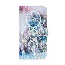 Pouzdro pro Apple iPhone 7 Plus / 8 Plus - stojánek + prostor pro platební karty - bílý lapač snů