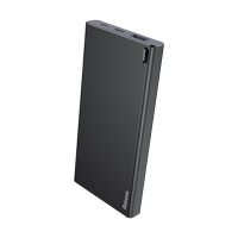 Externí baterie / power bank BASEUS 10000mAh - 1x USB + USB-C + micro USB - černá