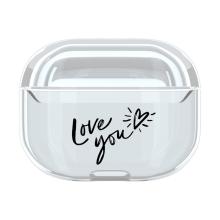 Pouzdro / obal pro Apple AirPods Pro - plastové - průhledné / Love you