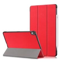 Pouzdro / kryt pro Apple iPad Air 4 (2020) - funkce chytrého uspání - umělá kůže - červené