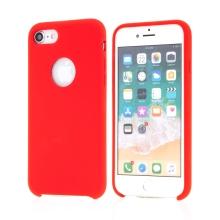 Kryt pro Apple iPhone 7 / 8 / SE (2020) - gumový - příjemný na dotek - výřez pro logo - červený