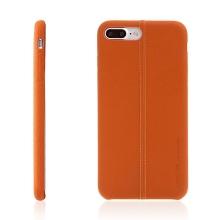 Kryt USAMS pro Apple iPhone 7 Plus / 8 Plus - umělá kůže - světle hnědý