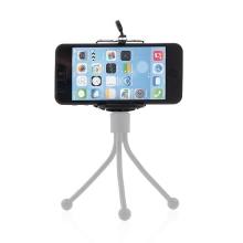 Univerzální nastavitelný držák na stativ / selfie tyč pro Apple iPhone a další zařízení šíře 5,5-9cm - černý